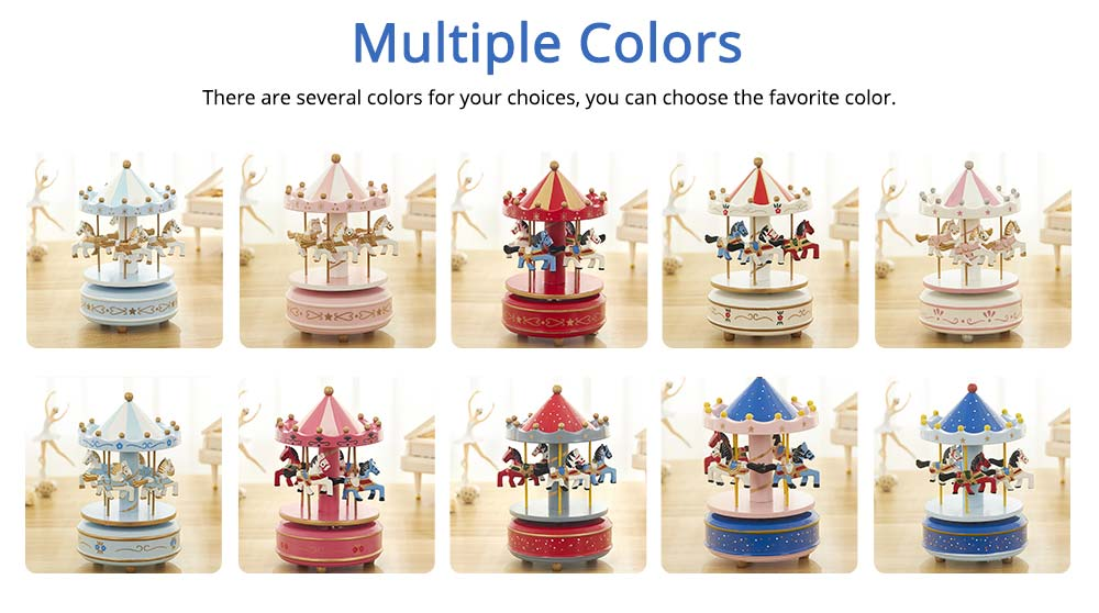 Carousel Music Box for Girls, European Style Children Day's Gift, Birthday Gift, Valentine's Day Music Box Music Toy 2