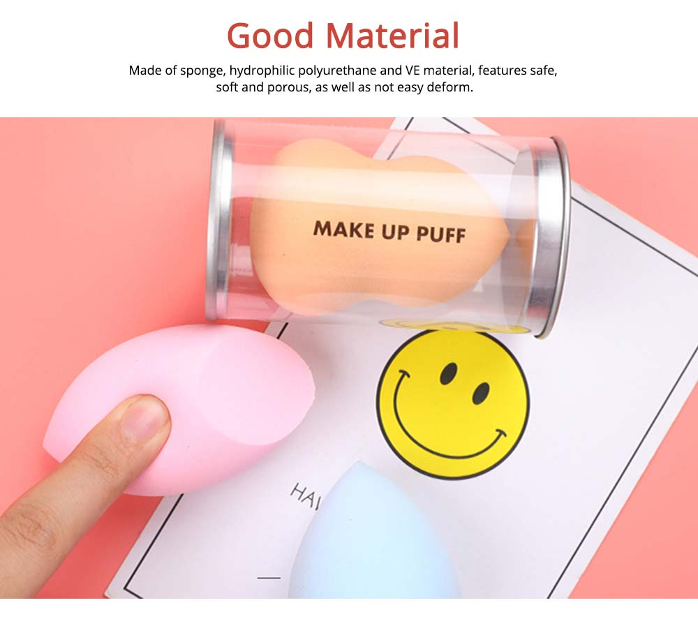 Sponge Powder Puff for Makeup, Dry Wet Beauty Blender with Gourd Powder Puff Drop Shape 2
