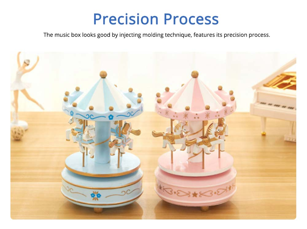 Carousel Music Box for Girls, European Style Children Day's Gift, Birthday Gift, Valentine's Day Music Box Music Toy 4