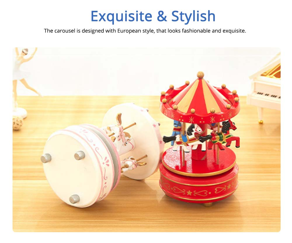 Carousel Music Box for Girls, European Style Children Day's Gift, Birthday Gift, Valentine's Day Music Box Music Toy 1