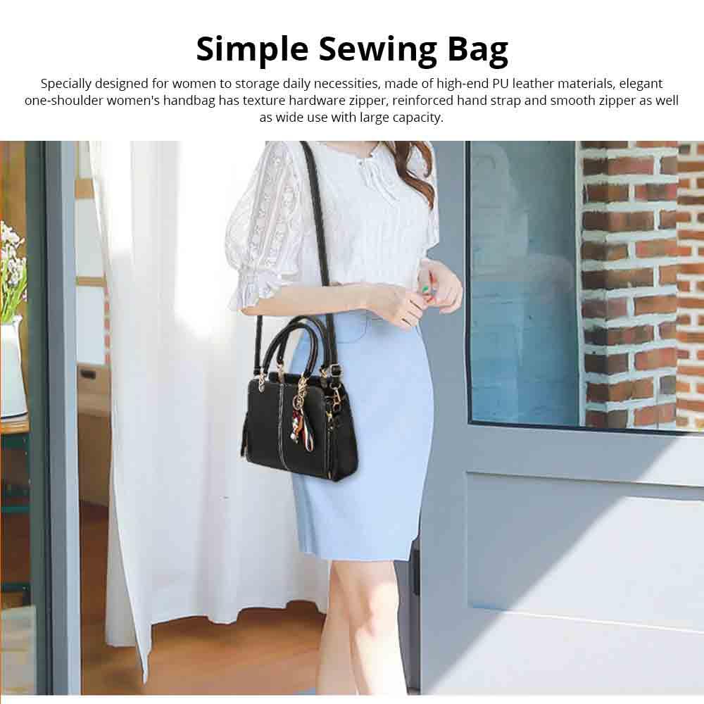 Sewing Bag Handles With High Quality Exquisite Metal Buckle, Simple Elegant One-shoulder Women's Handbag 0
