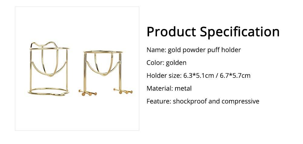 Mould-proof Makeup Blender Holder for Girls, Storage Box Metal Rack Makeup Tools Essential 6