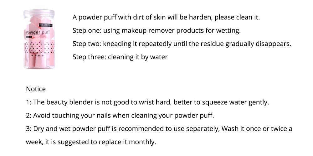 Sponge Powder Puff for Female, One-time Beauty Makeup Blender Wet Dry, 20PCS 7