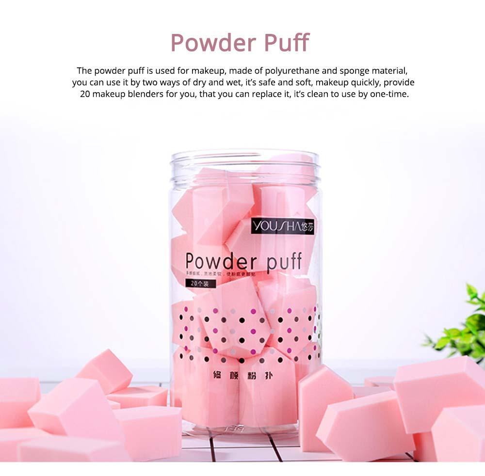 Sponge Powder Puff for Female, One-time Beauty Makeup Blender Wet Dry, 20PCS 0