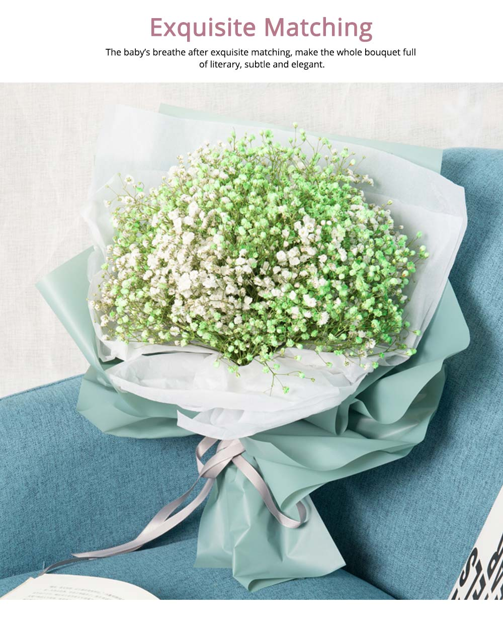 Artificial Babysbreath Flower Wedding Party Home Decor, Baby's Breath Bouquet Dried Flowers for Valentine's Day Gift 2