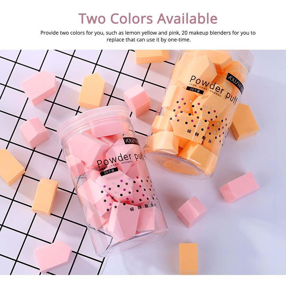 Sponge Powder Puff for Female, One-time Beauty Makeup Blender Wet Dry, 20PCS 2