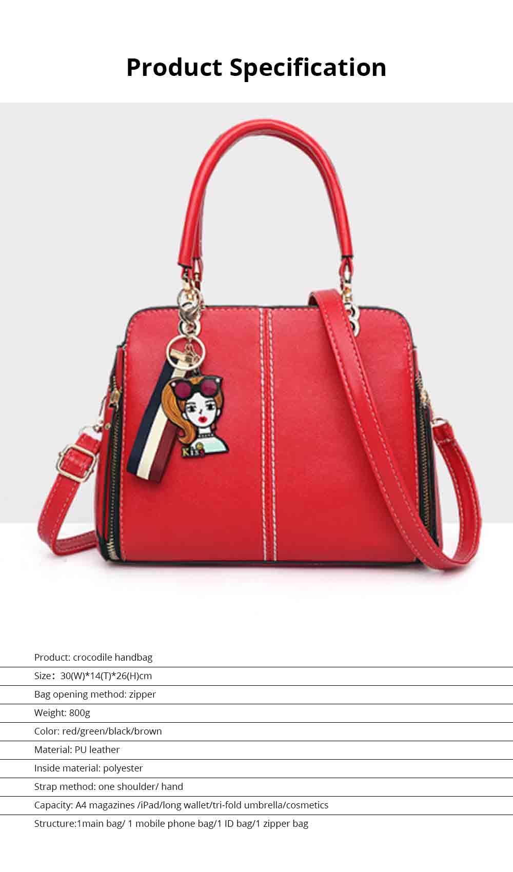 Sewing Bag Handles With High Quality Exquisite Metal Buckle, Simple Elegant One-shoulder Women's Handbag 7