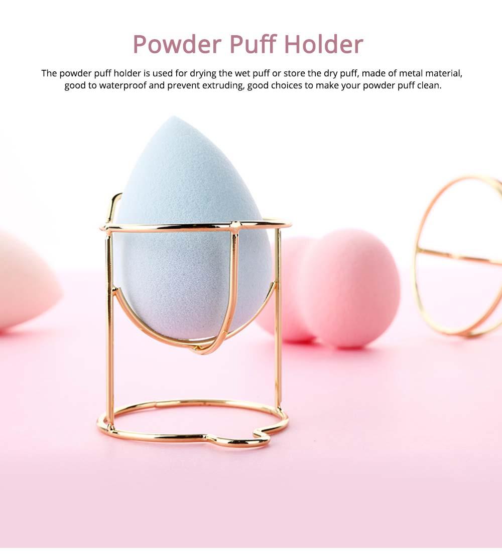 Mould-proof Makeup Blender Holder for Girls, Storage Box Metal Rack Makeup Tools Essential 0