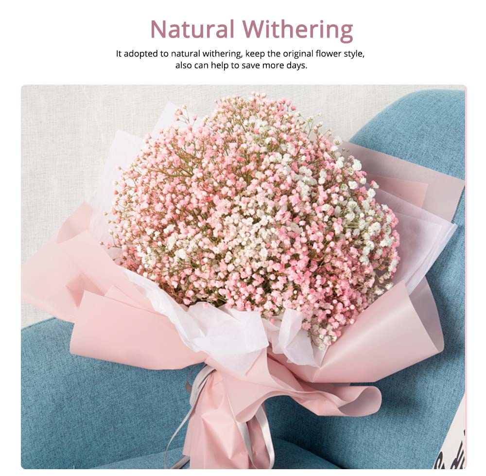 Artificial Babysbreath Flower Wedding Party Home Decor, Baby's Breath Bouquet Dried Flowers for Valentine's Day Gift 1