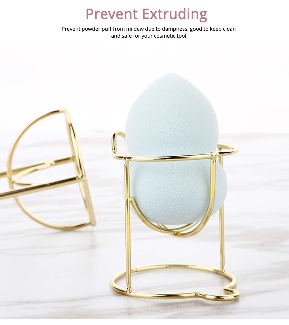 Mould-proof Makeup Blender Holder for Girls, Storage Box Metal Rack Makeup Tools Essential 2