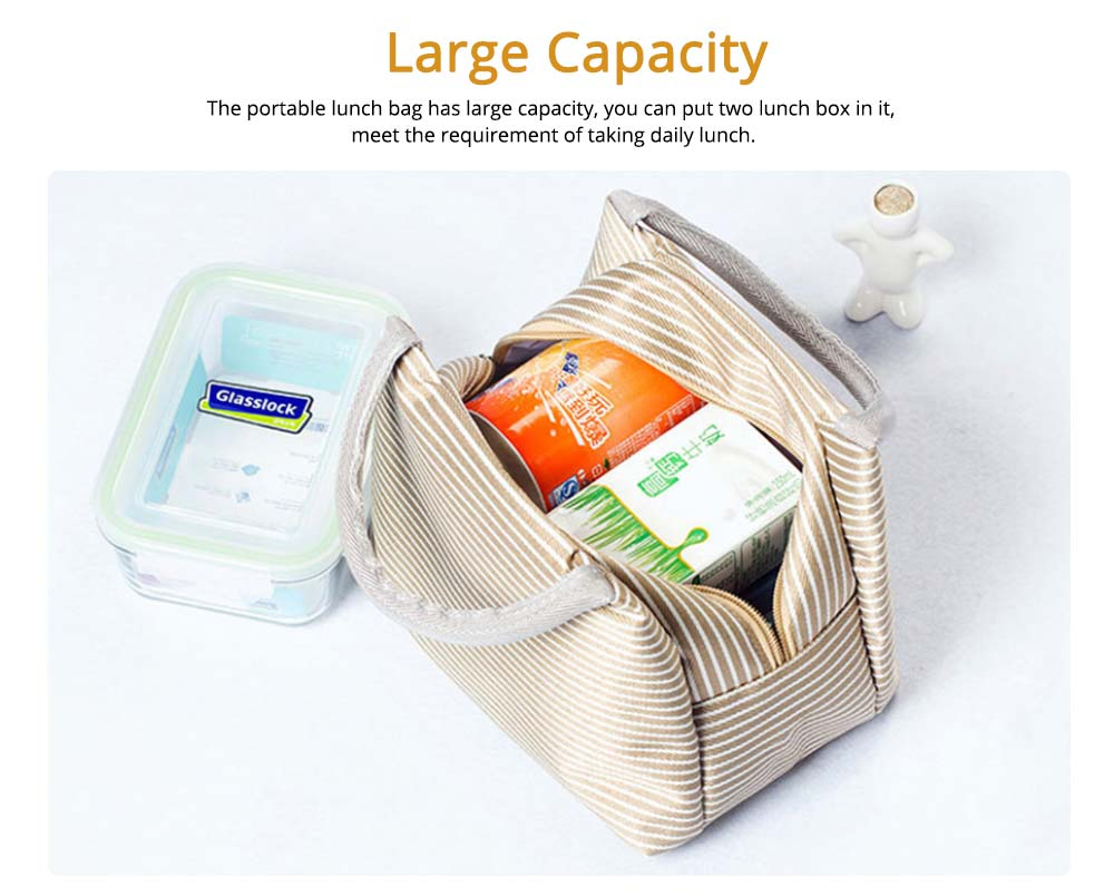 Portable Lunch Bag for Office Staff, Students, Outdoors, Small Handbag Big Capacity Insulation Lunch Bag  1
