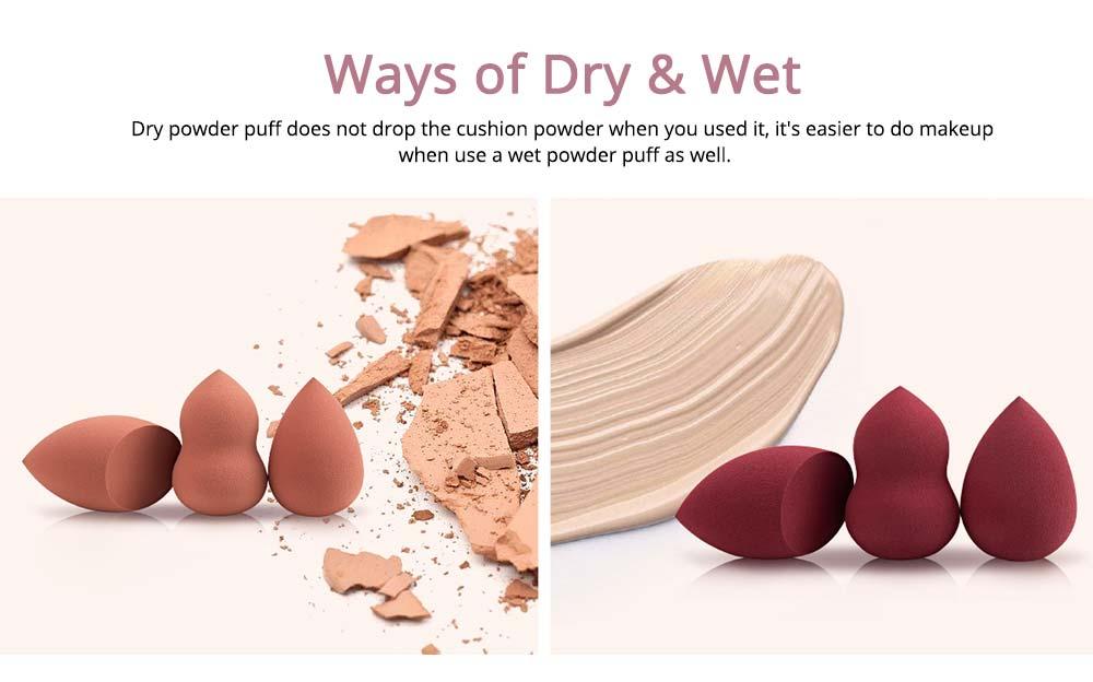 Sponge Puff for Liquid Foundation, Pressed Powder, Blusher, Makeup Tools Powder Puff 2
