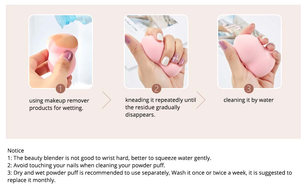 Sponge Puff for Liquid Foundation, Pressed Powder, Blusher, Makeup Tools Powder Puff 7