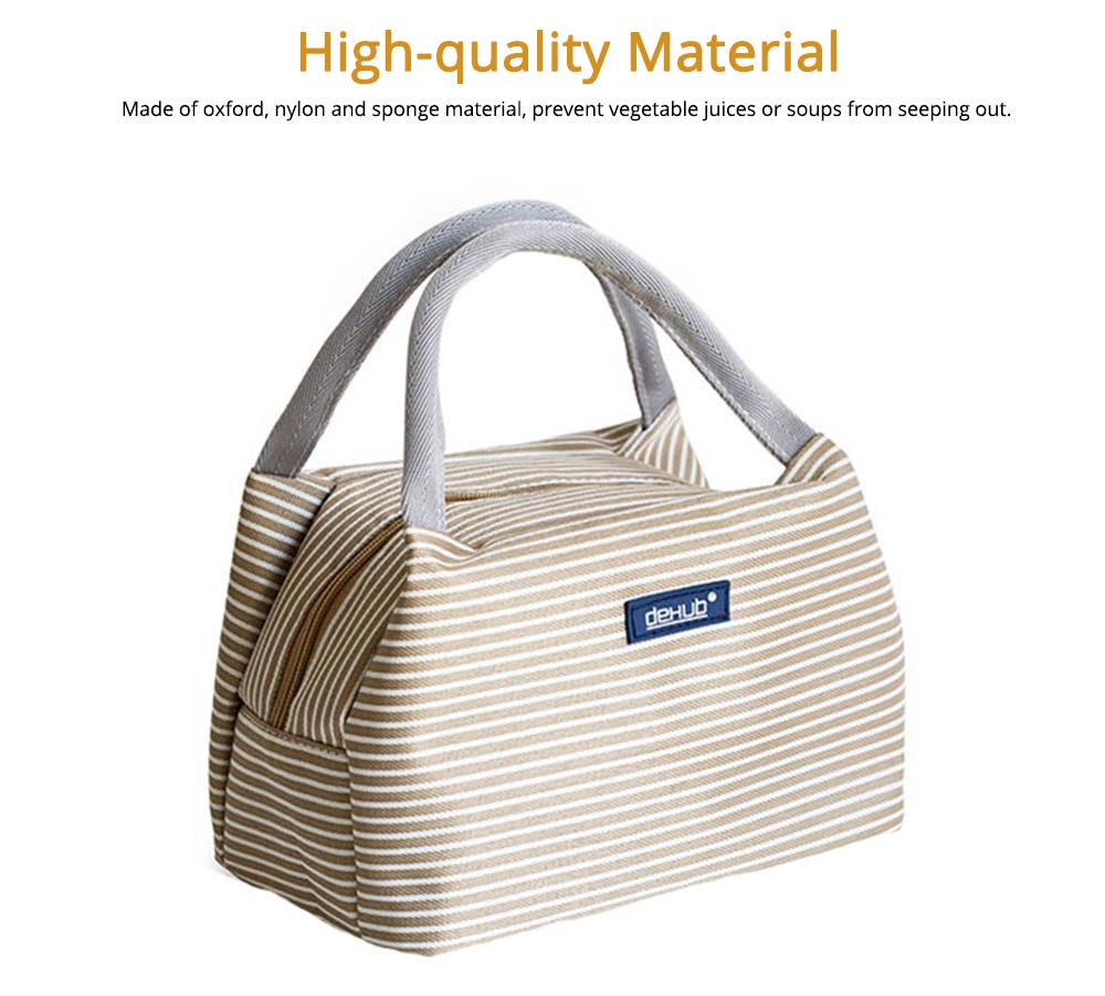 Portable Lunch Bag for Office Staff, Students, Outdoors, Small Handbag Big Capacity Insulation Lunch Bag  5