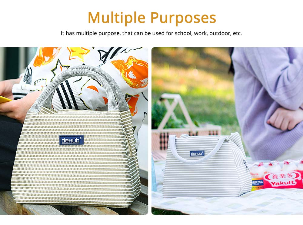 Portable Lunch Bag for Office Staff, Students, Outdoors, Small Handbag Big Capacity Insulation Lunch Bag  6