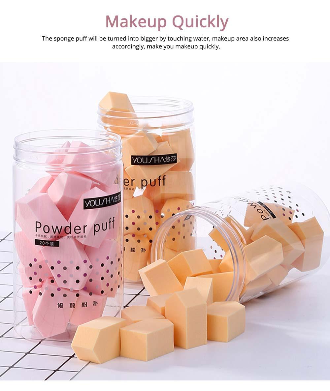 Sponge Powder Puff for Female, One-time Beauty Makeup Blender Wet Dry, 20PCS 5