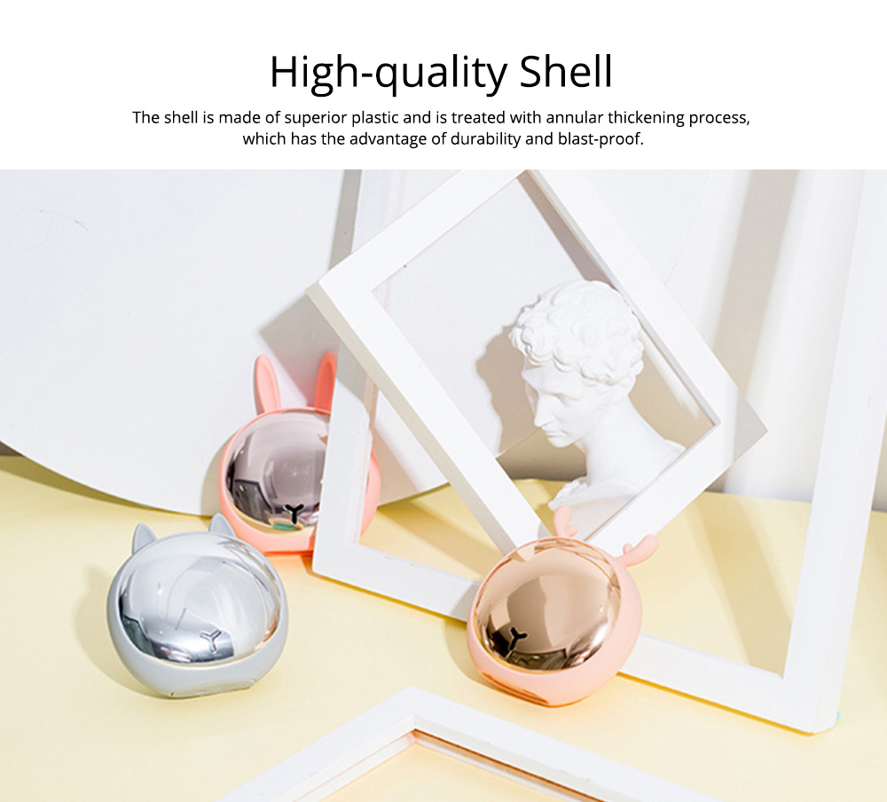 Creative Power Bank Warming Treasure, Portable Multifunctional Power Bank with Animal Model and Mirror Surface 1
