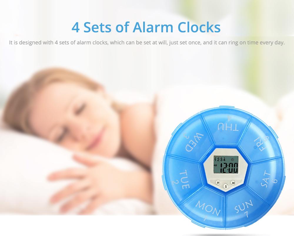 Electronic Pill Box Timer Reminder, Night Lighting Reminder 7-divided Pill Case Kit 11