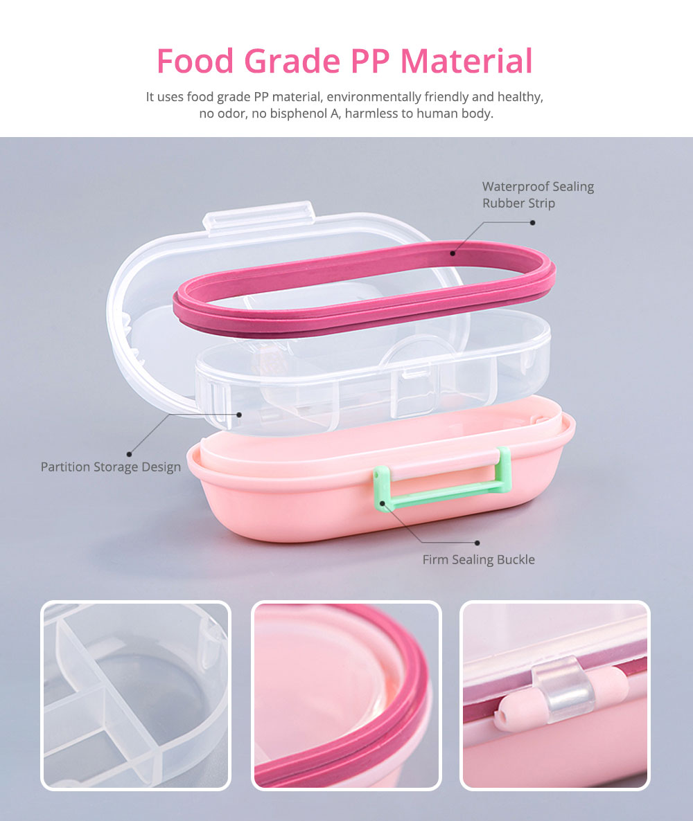 Mini Double Layer Medicine Storage Box, Portable Plastic First Aid Medicine Case, Pill Box for Home, Office, Dormitory 1