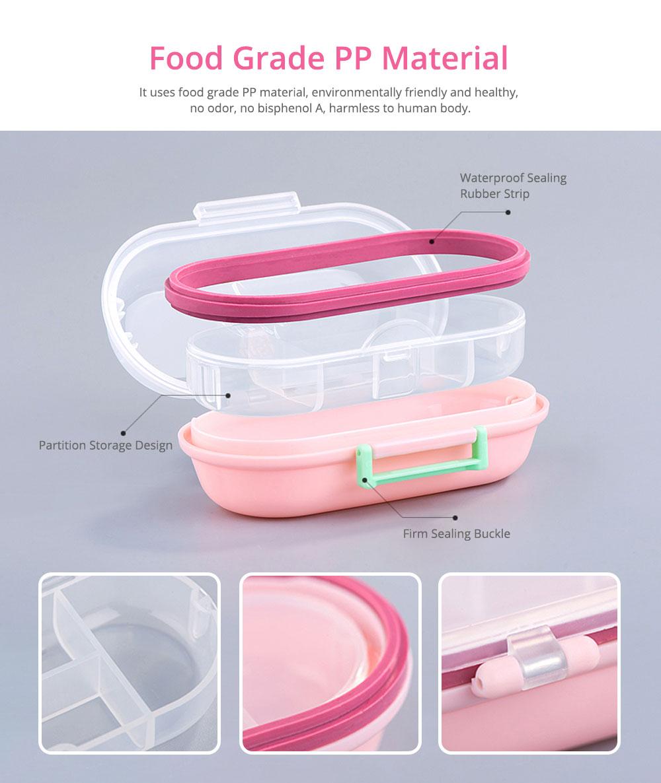Mini Double Layer Medicine Storage Box, Portable Plastic First Aid Medicine Case, Pill Box for Home, Office, Dormitory 8