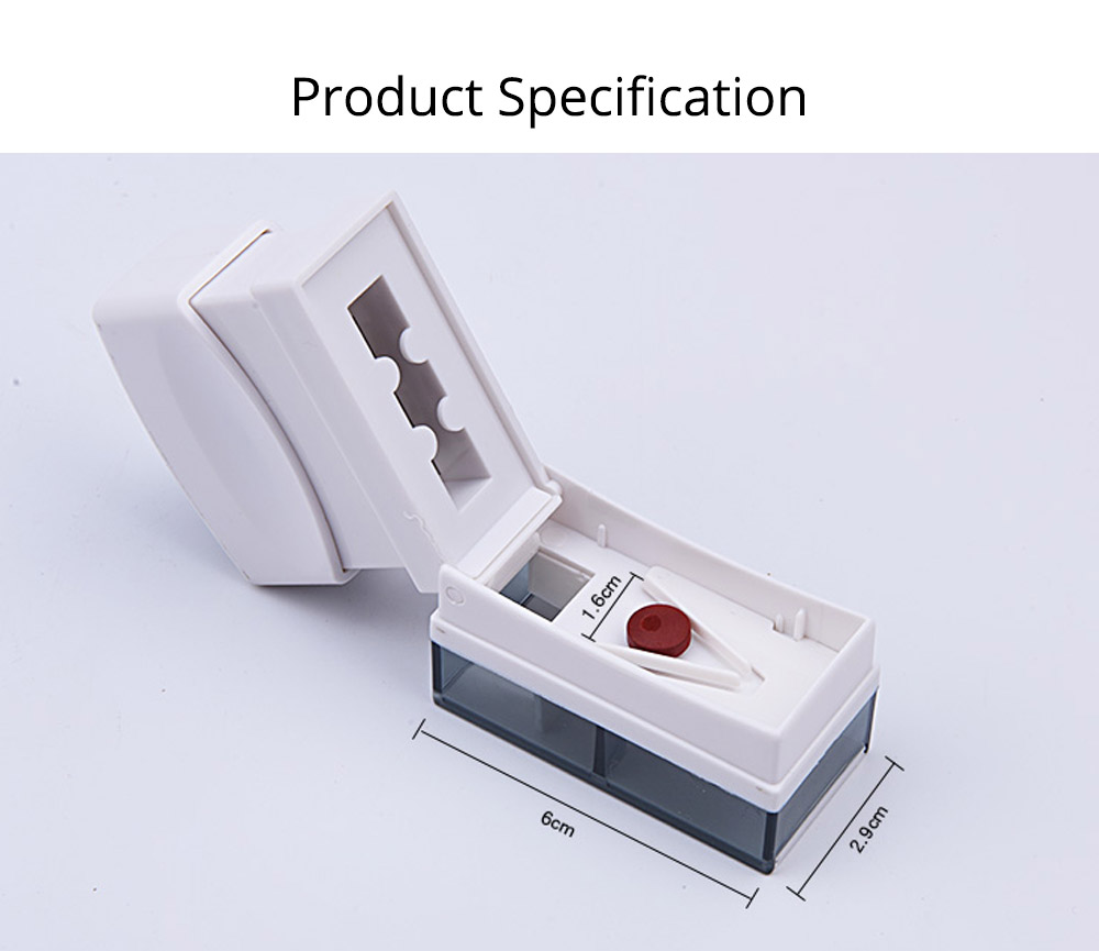 Premium Pill Cutter - Pill Splitter with Stainless Steel Blades, Tablet Cutter for Small Pills or Large Pills 6