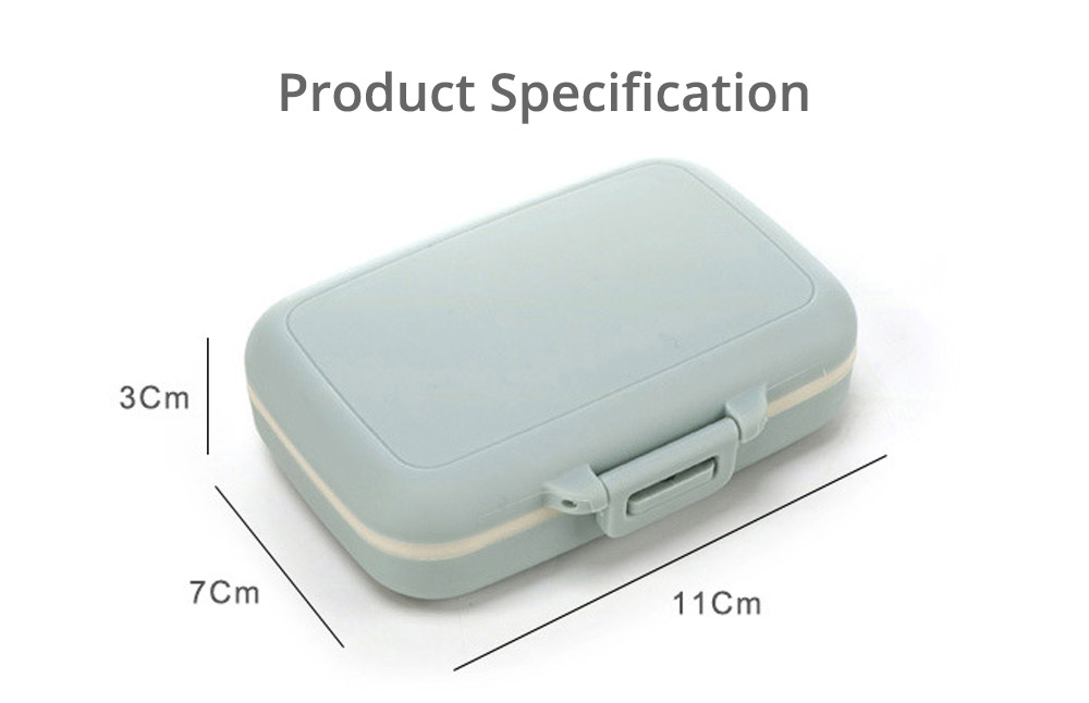 Multi Divided Weekly Pill Box, Portable Mini Plastic Storage Box for Capsule, Candy, Jewelry, Gadgets 8