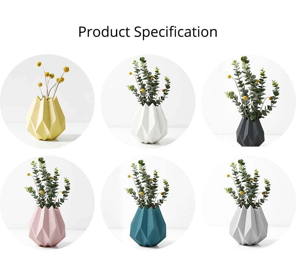 Creative Origami Vase, Ceramic Small Planter Pot, Home Office Desktop Vase Decor 10