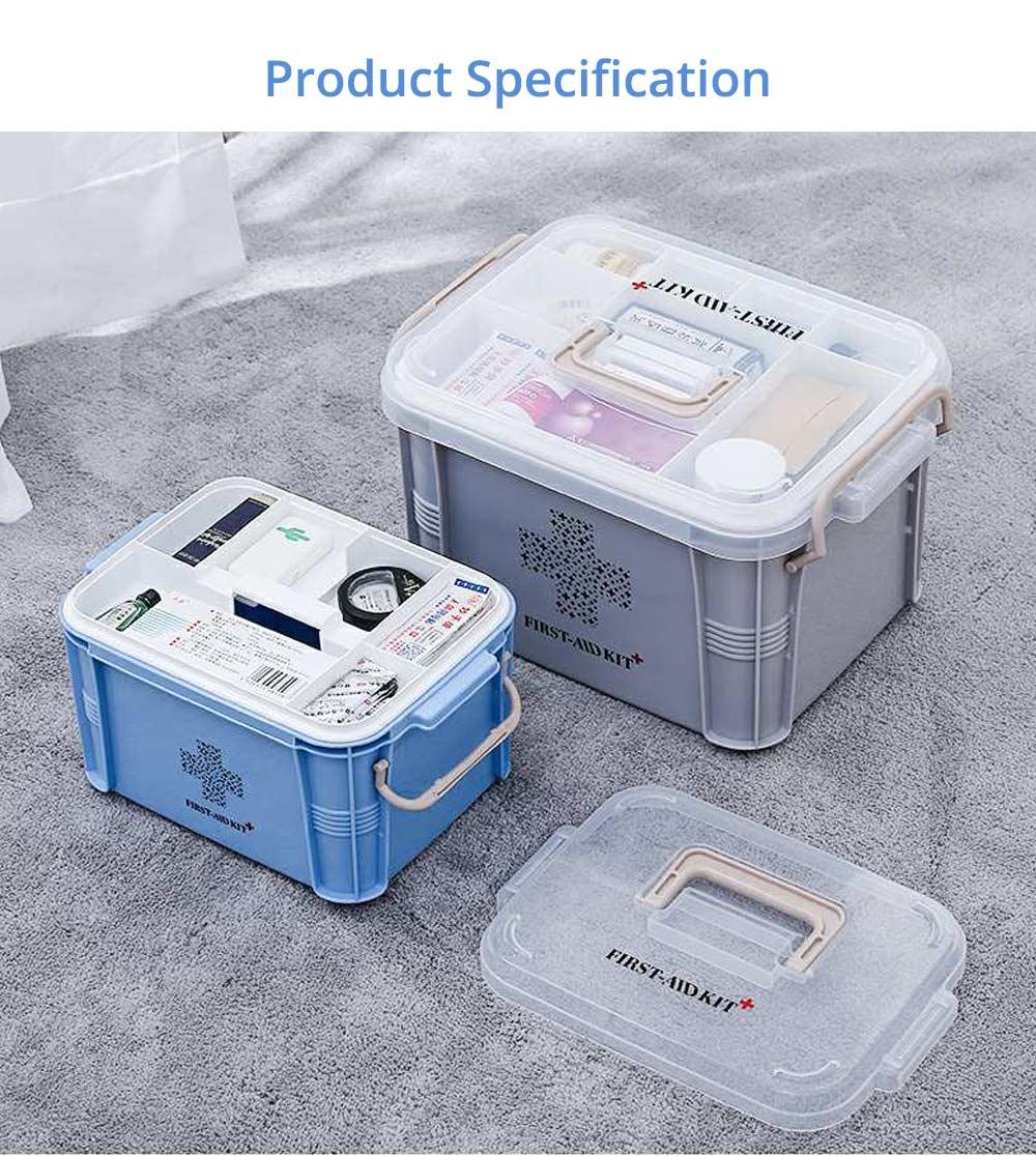 Portable Medicine Storage Case, Multi-layer Emergency Medicine Box for Home, Office, Dormitory Essentials 8