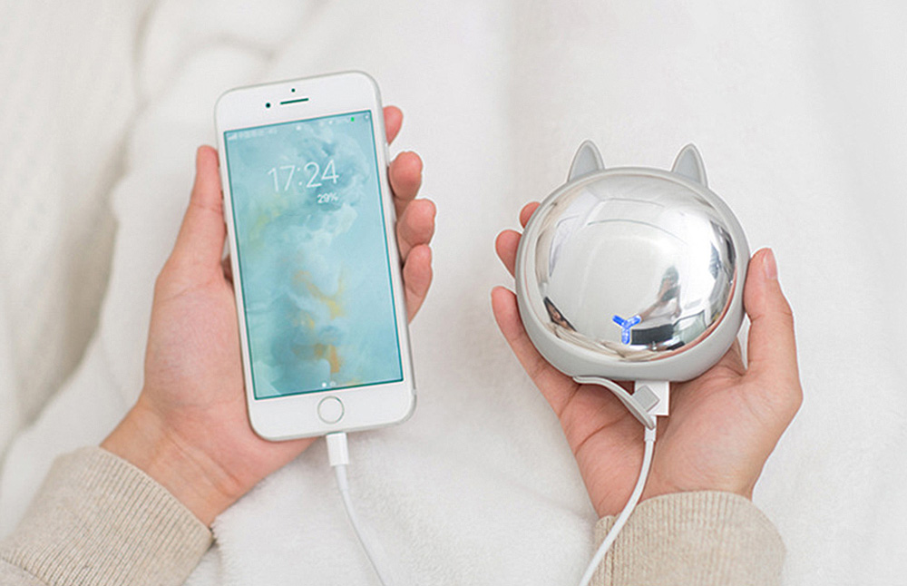 Creative Power Bank Warming Treasure, Portable Multifunctional Power Bank with Animal Model and Mirror Surface 9