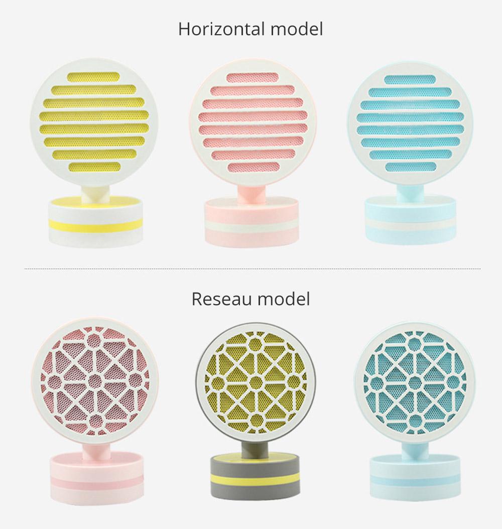 Mini Table Fan Heater, Potable Pivoting Warm Air Blower, Electric Energy-efficient Noiseless Heater Fans 9