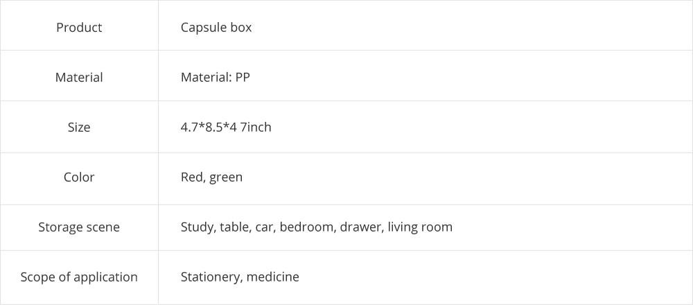 Mini Double Layer Medicine Storage Box, Portable Plastic First Aid Medicine Case, Pill Box for Home, Office, Dormitory 16