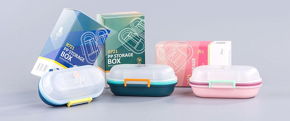 Mini Double Layer Medicine Storage Box, Portable Plastic First Aid Medicine Case, Pill Box for Home, Office, Dormitory 13
