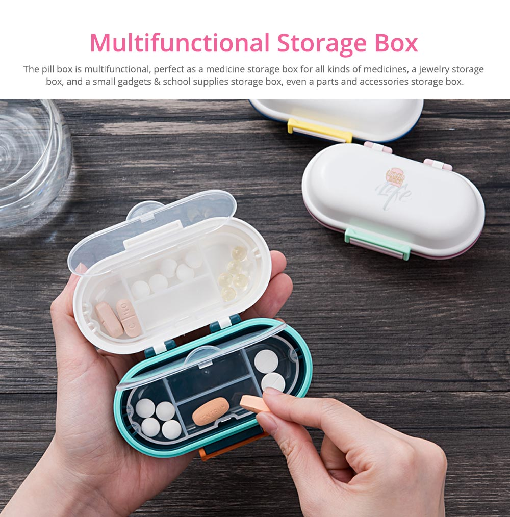 Mini Double Layer Medicine Storage Box, Portable Plastic First Aid Medicine Case, Pill Box for Home, Office, Dormitory 7