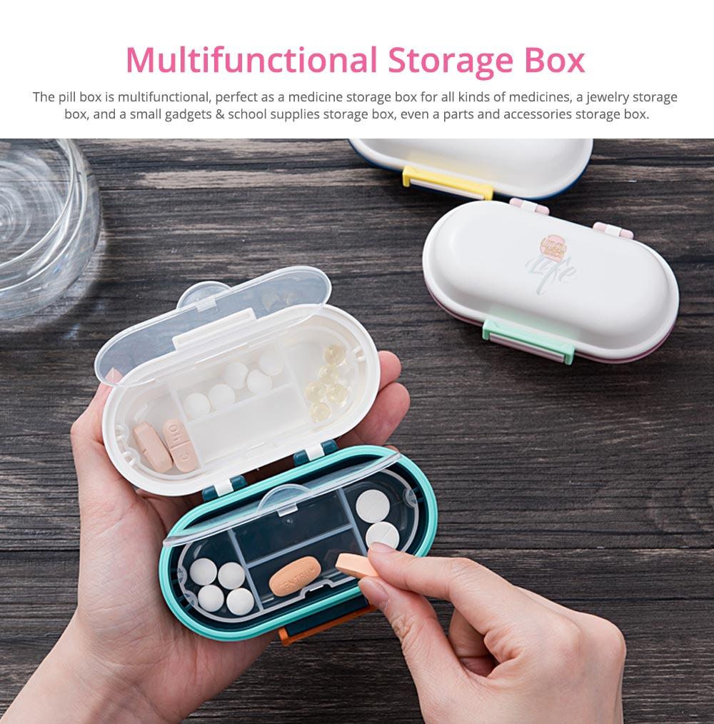Mini Double Layer Medicine Storage Box, Portable Plastic First Aid Medicine Case, Pill Box for Home, Office, Dormitory 14