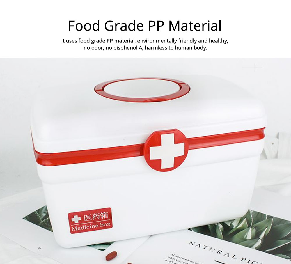 Empty First Aid Kit, Portable Medicine Storage Box, Plastic Double-layer Emergency Medicine Kit 11
