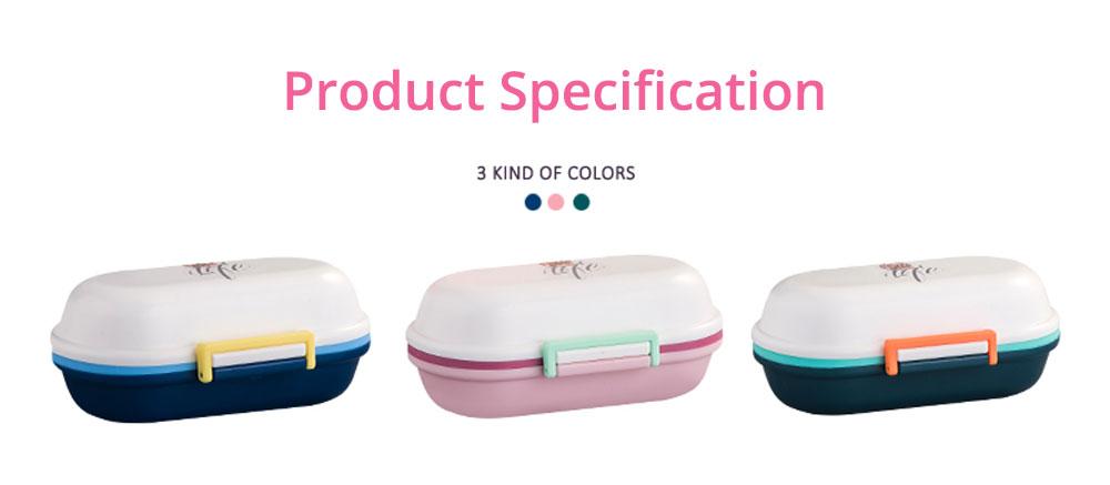 Mini Double Layer Medicine Storage Box, Portable Plastic First Aid Medicine Case, Pill Box for Home, Office, Dormitory 15