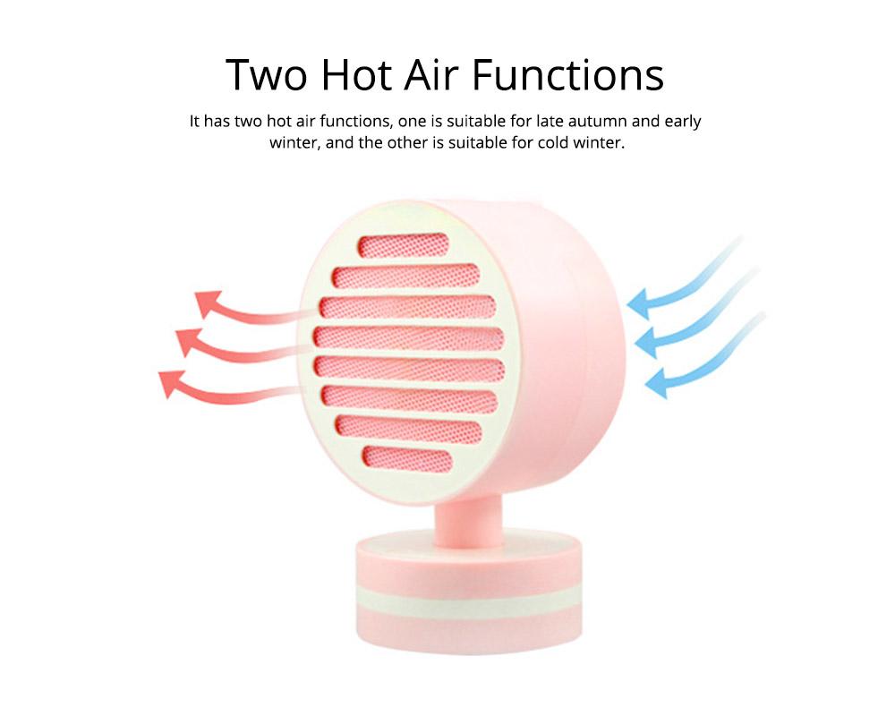 Mini Table Fan Heater, Potable Pivoting Warm Air Blower, Electric Energy-efficient Noiseless Heater Fans 4