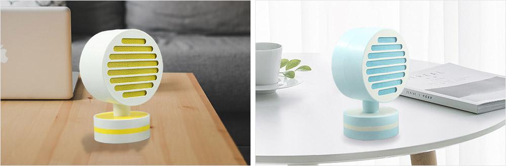 Mini Table Fan Heater, Potable Pivoting Warm Air Blower, Electric Energy-efficient Noiseless Heater Fans 2