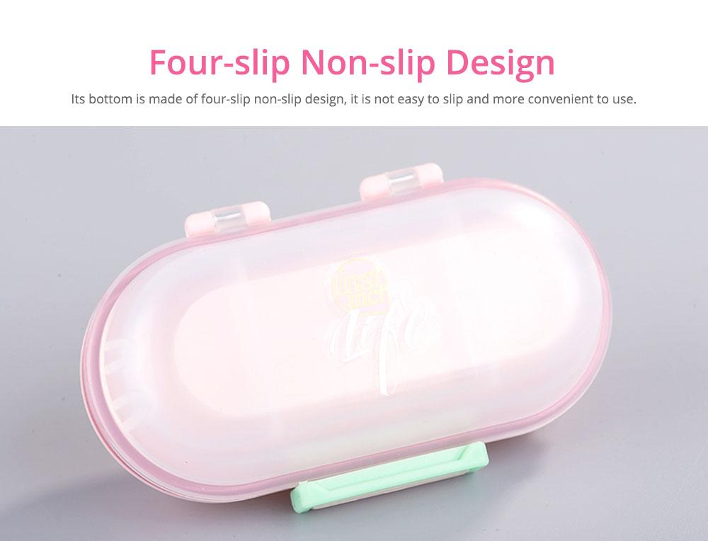 Mini Double Layer Medicine Storage Box, Portable Plastic First Aid Medicine Case, Pill Box for Home, Office, Dormitory 9