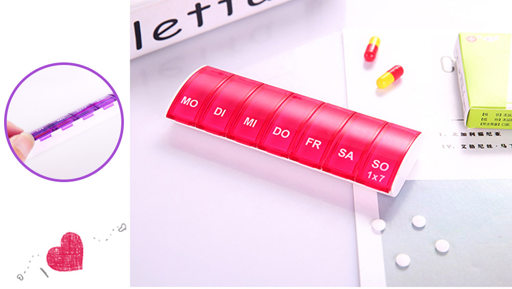 Mini Portable Pill Storage Kit, Rectangular Seven-cell, Plastic Storage Box for Capsule, Candy, Jewelry, Gadgets 20