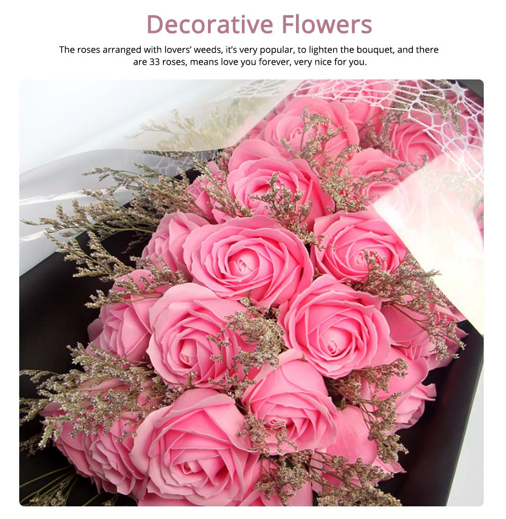 Preserved Fresh Rose with Dry Flower for Valentine's Day, Romantic Rose with Luxurious Gift Box for Girlfriend 1