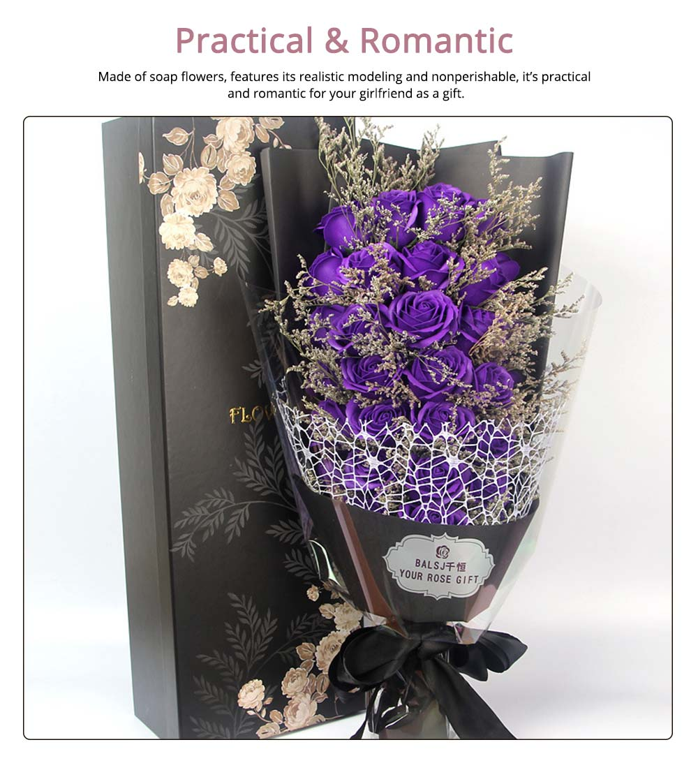 Preserved Fresh Rose with Dry Flower for Valentine's Day, Romantic Rose with Luxurious Gift Box for Girlfriend 4