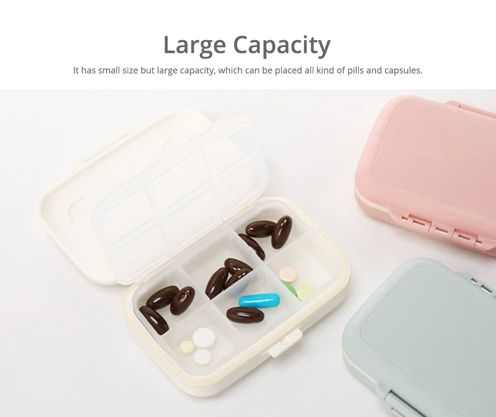 Multi Divided Weekly Pill Box, Portable Mini Plastic Storage Box for Capsule, Candy, Jewelry, Gadgets 6