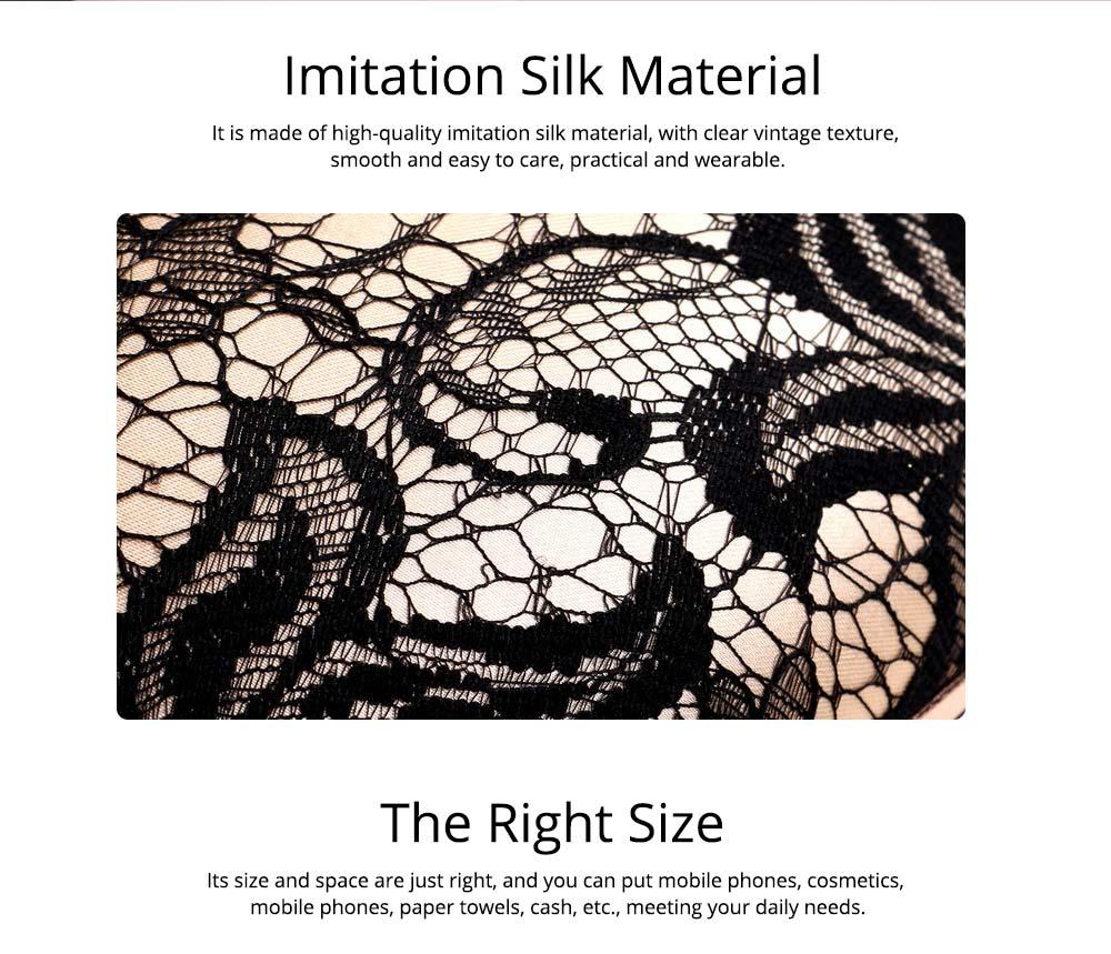 Peach Heart-shaped Handbag, Fashion Banquet Ladies Clutch, Imitation Silk Purse 2019 1