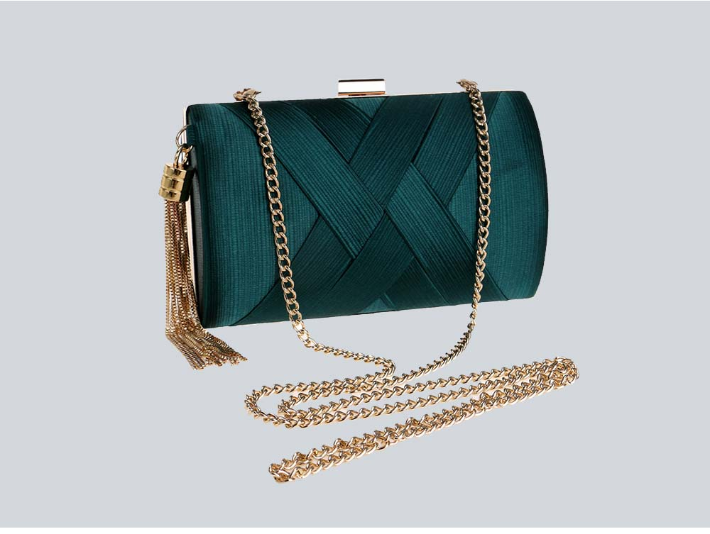 Fringe Party Bag, Female European and American Silk Party Evening Bag, Luxurious Imitation Silk Dress Clutch 15