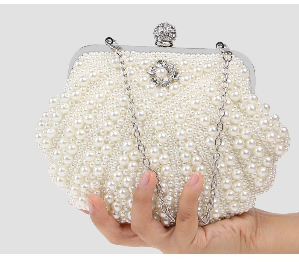 Beaded Pearl Dinner Bag, Women's Fashion Party Bag, High-quality Polyester Evening Dress Clutch 7