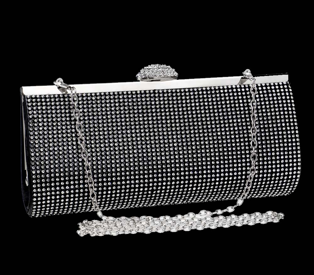 Diamond-encrusted Evening Bag, European and American Ladies Banquet Handbag, Polyester Dress Clutch 6