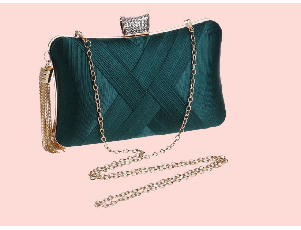 Imitation Silk Evening Bag, European and American Ladies Banquet Clutch, Ladies Dress Evening Handbag 8