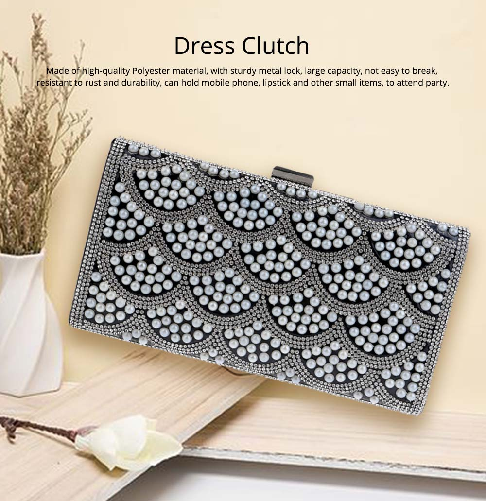 Flower Evening Bag, Ladies Fashion Banquet Handbag, High-quality Polyester Evening Clutch 6