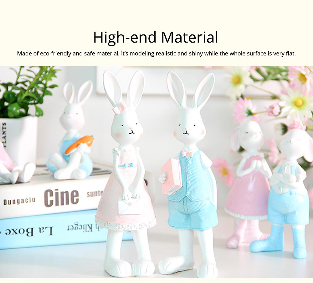 Cartoon Girl Bunny for Birthday Gift and Decoration, Seating and Standing Rabbits Easter Present 1